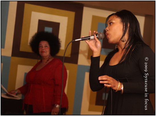 Jackie Warren-Moore (left) and her daughter Andrea Moore perform together at Metro Lounge