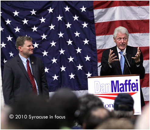 Former President Bill Clinton stumps for Dan Maffei in Syracuse
