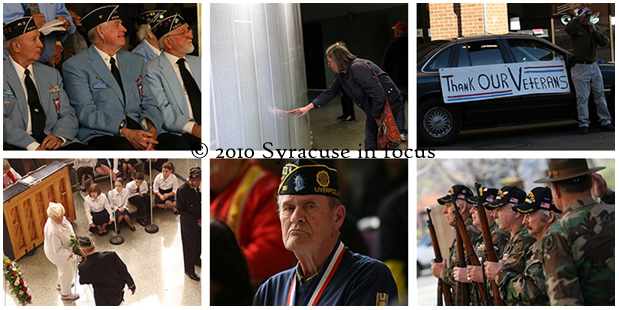2010 Veterans Day Ceremony, Onondaga County War Memorial