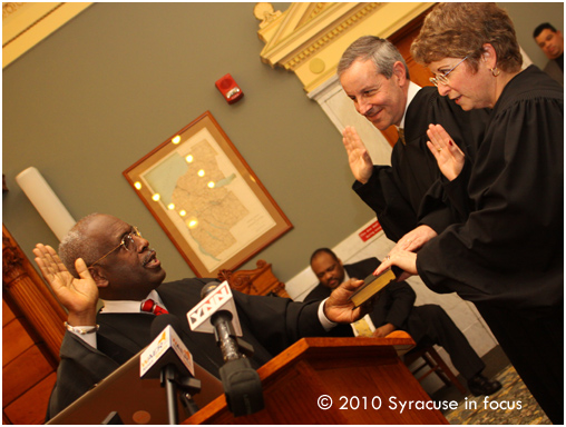 Judge Langston McKinney swears in Hon. Theodore Limpert and Hon. Kate Rosenthal