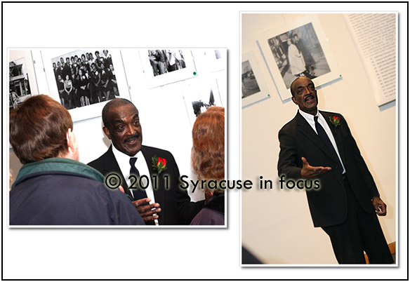 Richard Breland at Syracuse University discussing his photo collection