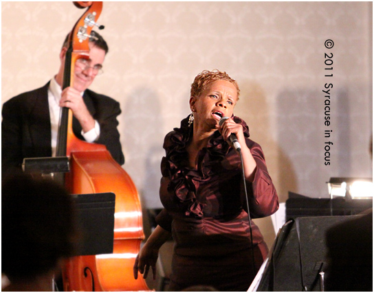 Antoinette Montague, jazz vocalist, at the Sheraton Hotel Ballroom