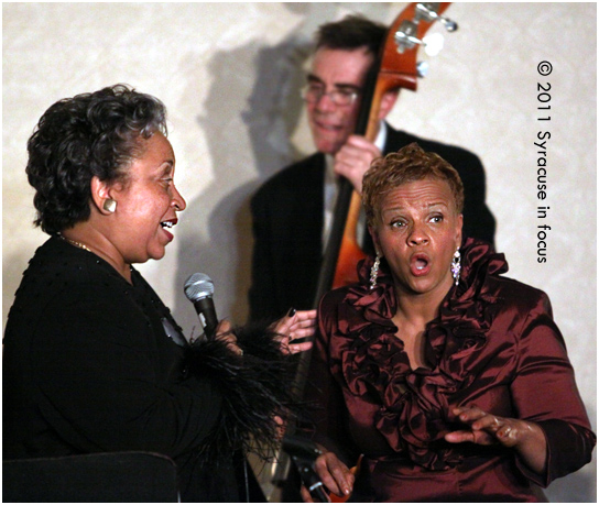 Antoinette Montague sings with Vicki Brackens