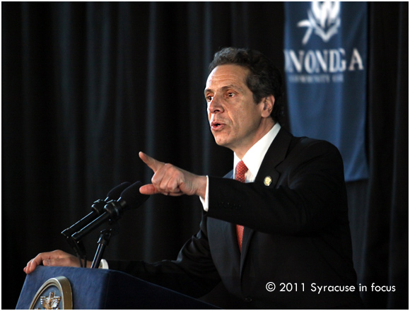 Gov. Andrew Cuomo speaks at Onondaga Community College (OCC)