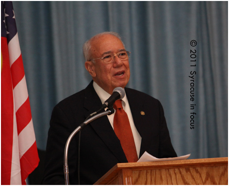 SU Professor Alejandro Garcia, one of the educators honored at the ceremony