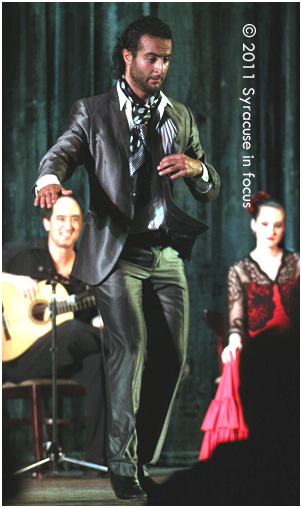 Zapateado: Sergio Aranda, a performer from Spain stomps at the Palace Theatre