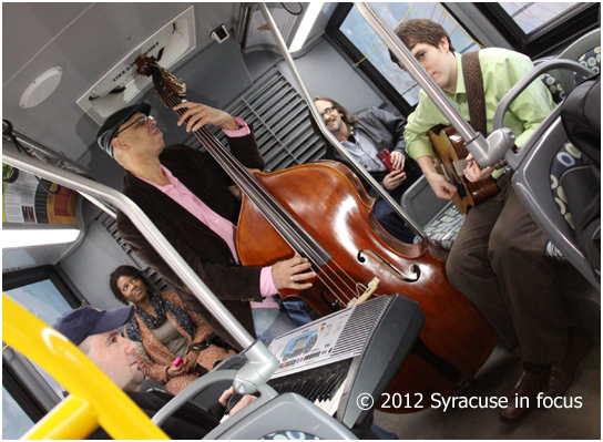 Bill Horace Trio, the Band on the Bus