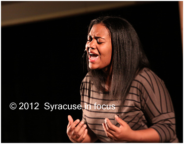 Shanaya Day-Merkerson sings during a scene in Teenage Love