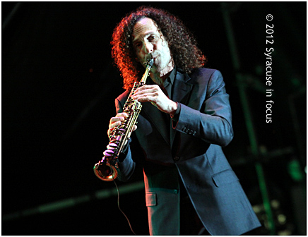 Kenny G onstage at Syracuse Jazz Fest (30th Anniversary)