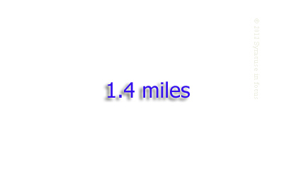 The length of the elevated section of Route I81 that runs through the middle of Syracuse.