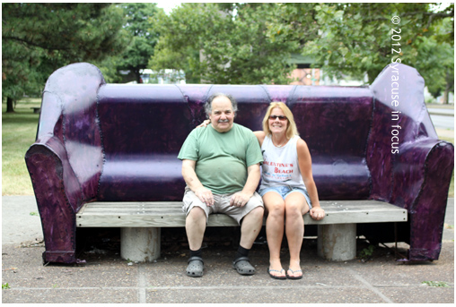 Angelo Puccia's Park Couch at Erie Boulevard and North McBride Street