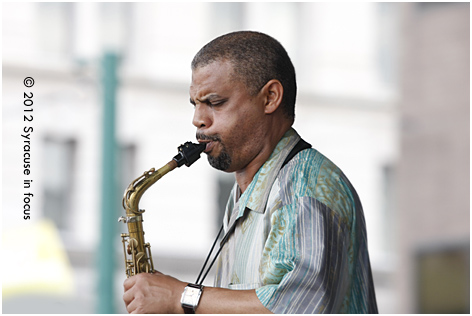 Steve Wilson played the main stage Saturday at the Northeast Jazz & Wine Fest. He was accompanied by the Noah Kellman Trio.