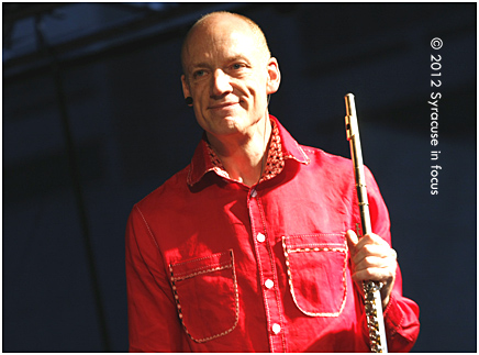 Flutist Wouter Kellerman played his first Syracuse concert Friday for the Northeast Jazz & Wine Festival