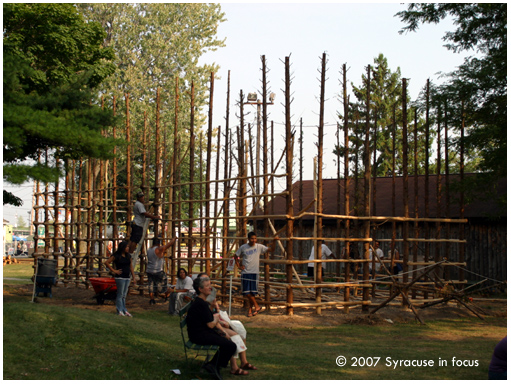 Longhouse, Indian Village (NYS Fair), circa 2007