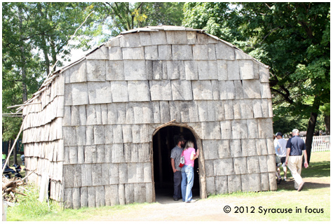Longhouse, Indian Village (NYS Fair), earlier this week