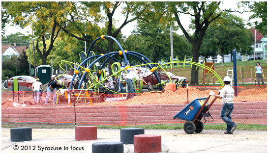 Playground Community Build Project at Union Park near North Salina Street.