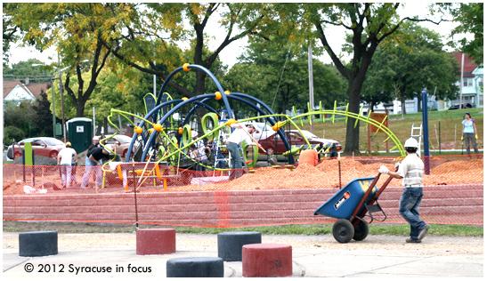Playground Community Build Project at Union Park near North Salina Street.