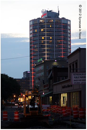 East Genesee Business District at night