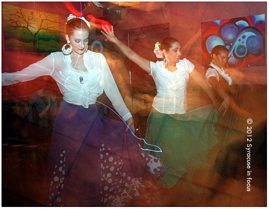 Puente Flamenco danced on stage tonight at La Dolce on the Connective Corridor
