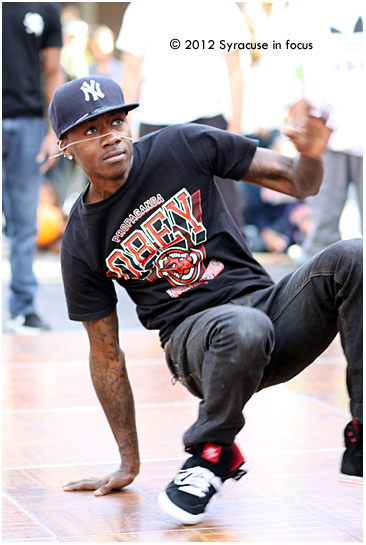 B-Boy, representing Syracuse Dance Project