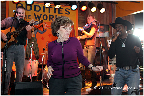 Dancing at Dinosaur BBQ: Marge grooves with Chris Taylor Custom Band