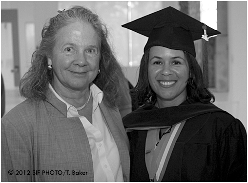 University of Miami Law School Dean Patricia White (a former resident of Central New York) with Odetta Norton shortly after the 2012 Graduation Ceremony.