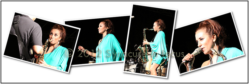 Miami Sax Machine Jessy J kept it hot as the headliner for the Northeast Jazz &amp; Wine Festival.