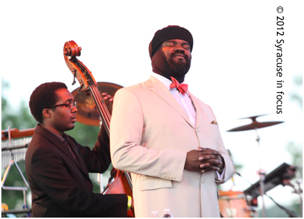 Jazz singer Gregory Porter (pictured here at the Syracuse Jazz Fest) gave a genre-bending performance that nearly parted the waters at Jamesville Beach. Easily the best performance I saw in 2012.