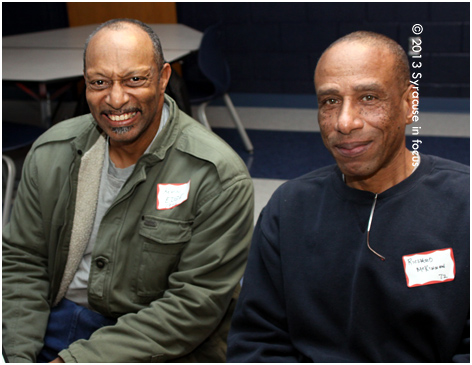 Kevin Edge and Roy Mckinnon, members of the Central Tech class of 1972.