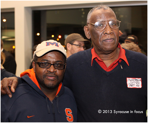 Central Tech alumni Freeman Finch (photographer) and Manny Breland (retired educator and SU legend)