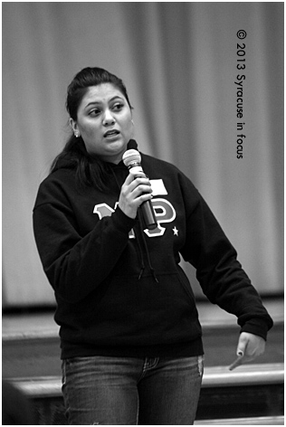 Spoken word artists from the Verbal Blend Poetry Program at Syracuse University also participated.