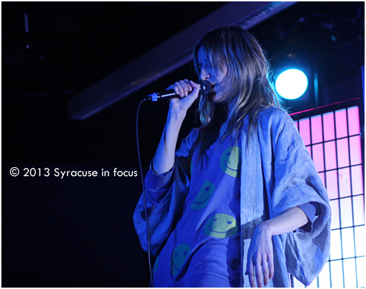 Ioanna Gika lets her Kimona hang out during her performance last night at Syracuse Unviersity (Io Echo opened for Juke Box Ghost)