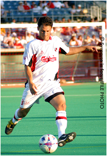 Tommy Tanner, former MISL player (and Rookie of the Year) and current coach of the Syracuse Silver Knights
