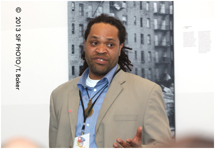 Eldred Harris, lectured on Hip Hop's Roots Saturday afternoon at the History Center.