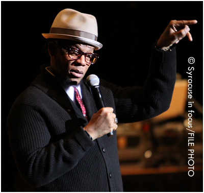 Actor/Comedian D.L. Hughley performs during a visit to Syracuse a few years ago.