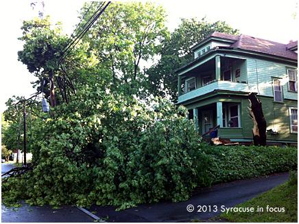 East side post Spring storm