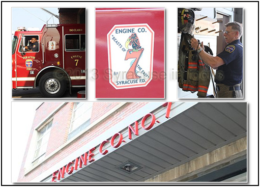 Syracuse Fire Department's Engine No. 7 Comes to the End of the Road