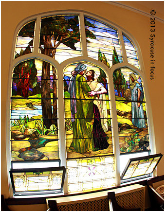 First English Lutheran Church-Story of Ruth in stained glass by Henry Keck