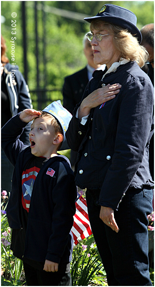 Saluting to the sound of Taps
