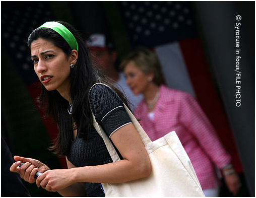 Huma Abedin visited Central New York when she was a staffer for Hillary Clinton
