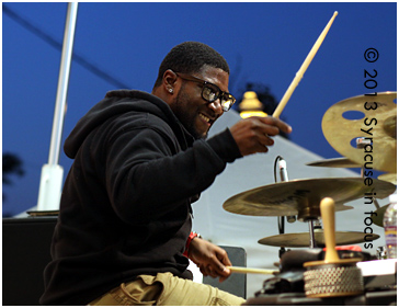 Syracuse-area drummer Stephen Bender was invited to play with McComb