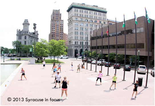 Free Zumba Class, Each Wednesday during the lunch hour (Clinton Square)
