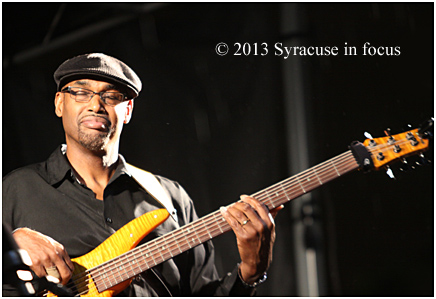 Bassist Gerald Veasley made his second straight visit to Syracuse for the Northeast Jazz & Wine Festival.