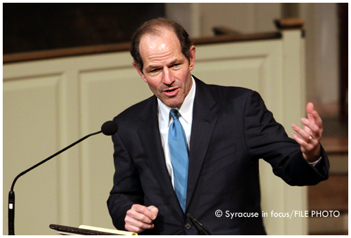 Former NY Governor and Attorney General Elliot Spitzer (speaking at Syracuse University in 2010)