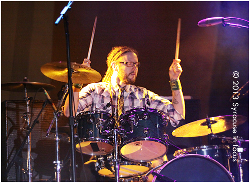 Danno O'Shea: pounding out funky Celtic Folk on the drums