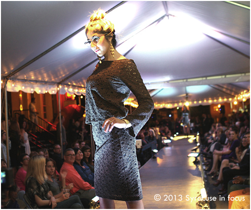 Magazine Editor/Journalist Farah Jordan models the new chic during last night's Syracuse Style Event in Armory Square.