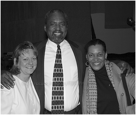 Xenia Belcher, Jesse Dowdell with Carrie Mae Weems at the Everson Museum about 10 years ago.