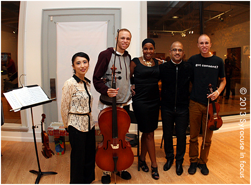 Yayoi Ikawa, Anthony McGriff, Dr. Kheli Willetts, Daniel Bernard Roumain and Eric McGriff at CFAC on Friday night.