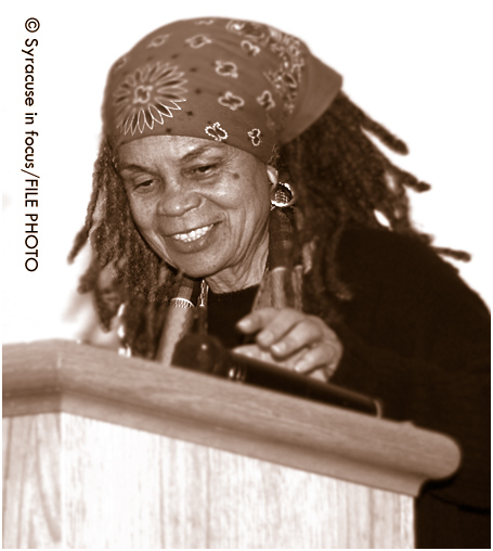 Poet Sonia Sanchez at Syracuse University about a decade ago.