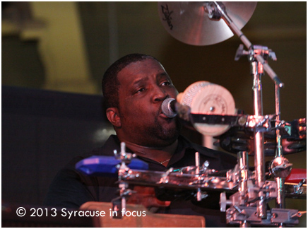 Percussionist Frank Speights sings lead on a cut.